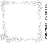 floral frame. coloring book for ... | Shutterstock . vector #1425391148