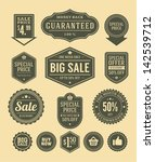 vector vintage sale label set... | Shutterstock .eps vector #142539712