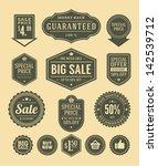 vector vintage sale label set... | Shutterstock .eps vector #142539712