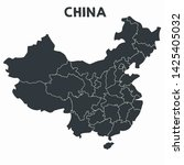 vector icon map of china. china ... | Shutterstock . vector #1425405032