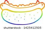 rainbow gradient line drawing... | Shutterstock .eps vector #1425412505