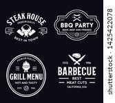 steak house  barbecue  bbq... | Shutterstock .eps vector #1425422078