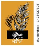 palm leaves illustration with... | Shutterstock .eps vector #1425427805