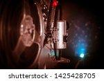old vintage movie projector on...   Shutterstock . vector #1425428705