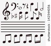 set music note   Shutterstock . vector #142544056