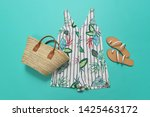 blouse with floral pattern...   Shutterstock . vector #1425463172