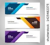 abstract vector banner.modern... | Shutterstock .eps vector #1425482375