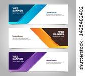 abstract vector banner.modern... | Shutterstock .eps vector #1425482402