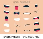 mouth expressions set is help... | Shutterstock .eps vector #1425522782