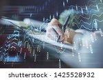 financial forex graph displayed ... | Shutterstock . vector #1425528932
