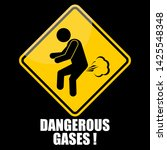dangerous gases  sticker and... | Shutterstock .eps vector #1425548348