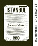 istanbul focused dude t shirt... | Shutterstock .eps vector #1425562415