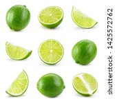 Lime isolated. lime half  slice ...