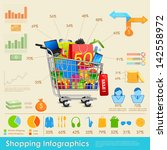 illustration of shopping... | Shutterstock .eps vector #142558972
