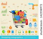 illustration of shopping... | Shutterstock .eps vector #142558972