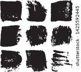 vector dry brush stroke grunge. ... | Shutterstock .eps vector #1425592445