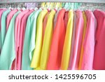 multi colored clothing hanging... | Shutterstock . vector #1425596705
