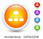 diagram icons on round button... | Shutterstock .eps vector #142561018