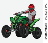 design atv racing race... | Shutterstock .eps vector #1425611192