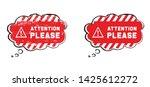 attention please do not enter...   Shutterstock .eps vector #1425612272