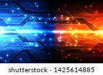 vector abstract futuristic... | Shutterstock .eps vector #1425614885