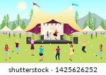 summertime music festival flat... | Shutterstock .eps vector #1425626252
