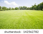 green field and tree with blue... | Shutterstock . vector #142562782