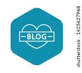 like heart blog icon. outline...