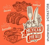 mexican food illustrations  ... | Shutterstock .eps vector #1425637358