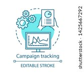 campaign tracking blue concept... | Shutterstock .eps vector #1425667292