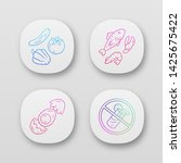 balanced eating app icons set....