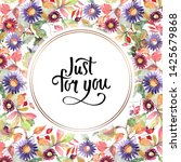 aster and wildflower bouquet...   Shutterstock . vector #1425679868