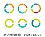 multicolored arrows in circular ... | Shutterstock .eps vector #1425712778