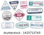 airport stamps. vintage travel... | Shutterstock .eps vector #1425713765