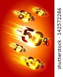 meteor rain discounts  sale... | Shutterstock .eps vector #142572286