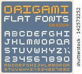 Origami Flat type font, vintage typography ,Illustratiom EPS10 - stock vector