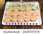 making homemade muffins....   Shutterstock . vector #1425737375