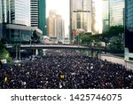 Small photo of HONG KONG, JUNE 16, 2019: Thousands of people urge the government to withdraw a controversial extradition bill . Organizers claimed nearly two million joined the demonstration.