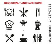 restaurant and cafe icons set...   Shutterstock .eps vector #1425747398