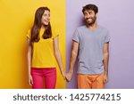 romantic couple in love have...   Shutterstock . vector #1425774215