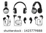 realistic headphones. 3d... | Shutterstock .eps vector #1425779888