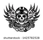 vector monochrome illustration... | Shutterstock .eps vector #1425782528
