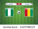 nigeria vs guinea scoreboard... | Shutterstock .eps vector #1425788225