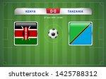 kenya vs tanzania scoreboard... | Shutterstock .eps vector #1425788312
