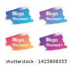 mega discount color promo... | Shutterstock .eps vector #1425808355