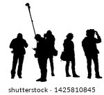 big crowds people on white... | Shutterstock . vector #1425810845