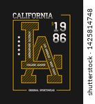 california  la slogan... | Shutterstock .eps vector #1425814748