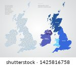telecommunications network of... | Shutterstock .eps vector #1425816758