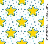 flat outline decorated star...