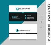 business card design vector... | Shutterstock .eps vector #1425837668